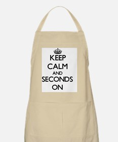 Keep Calm and Seconds ON Apron