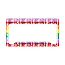 Rainbow Name Pattern License Plate Holder