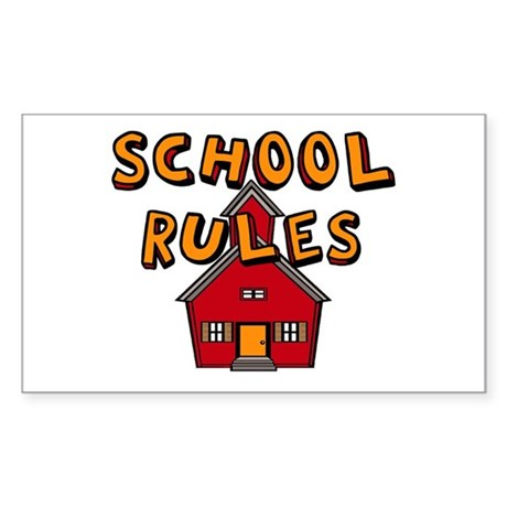 School Rules Rectangle Sticker