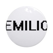 Emilio Digital Name Design Ornament (Round)