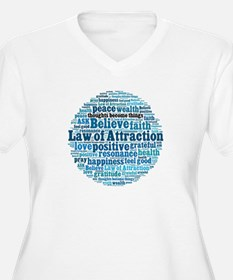 Law of Attraction Plus Size T-Shirt