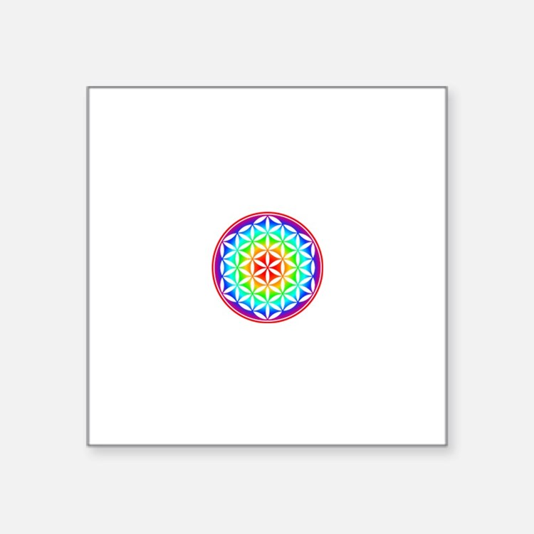 Rainbow Chakra Flower of Life Sticker