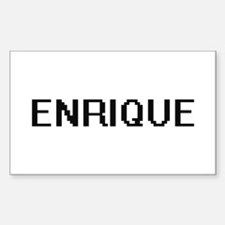Enrique Digital Name Design Bumper Stickers