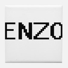 Enzo Digital Name Design Tile Coaster