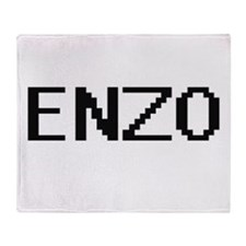 Enzo Digital Name Design Throw Blanket