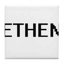 Ethen Digital Name Design Tile Coaster
