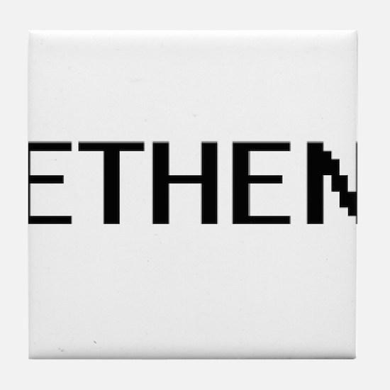 Ethen Digital Name Design Tile Coaster