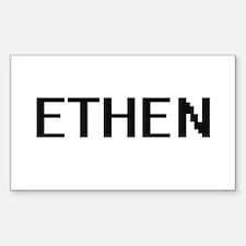 Ethen Digital Name Design Decal