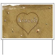 Araceli Beach Love Yard Sign