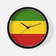 Rasta Wall Clock Reggae colors