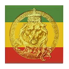 Rasta Lion of Judah Tile Coaster