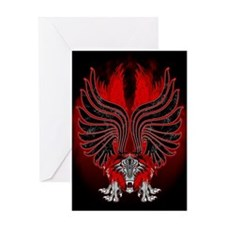 Dragon Gargoyle Tattoo Style Greeting Cards