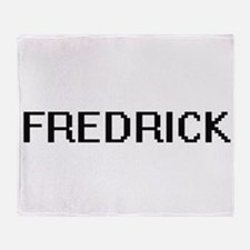 Fredrick Digital Name Design Throw Blanket