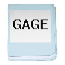 Gage Digital Name Design baby blanket