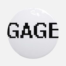 Gage Digital Name Design Ornament (Round)