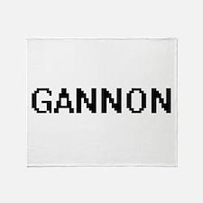 Gannon Digital Name Design Throw Blanket