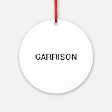 Garrison Digital Name Design Ornament (Round)