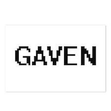 Gaven Digital Name Design Postcards (Package of 8)