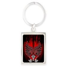 Dragon Gargoyle Tattoo Style Keychains
