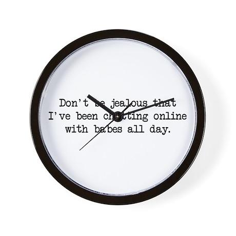 Chatting Online (blk) - Napoleon Wall Clock