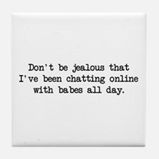 Chatting Online (blk) - Napoleon Tile Coaster