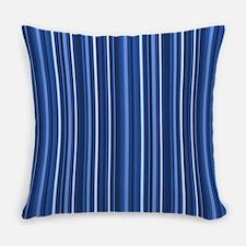 Blue Stripes Everyday Pillow
