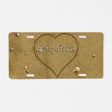 Angelica Beach Love Aluminum License Plate