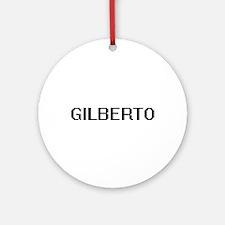 Gilberto Digital Name Design Ornament (Round)