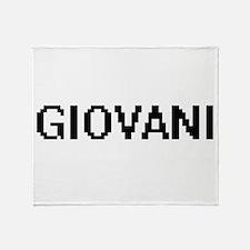 Giovani Digital Name Design Throw Blanket