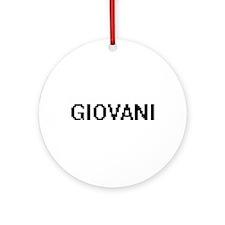 Giovani Digital Name Design Ornament (Round)