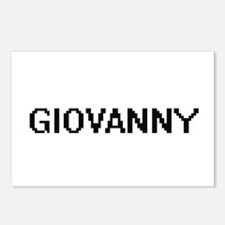 Giovanny Digital Name Des Postcards (Package of 8)