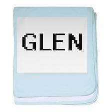 Glen Digital Name Design baby blanket