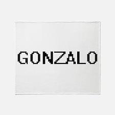 Gonzalo Digital Name Design Throw Blanket