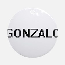 Gonzalo Digital Name Design Ornament (Round)