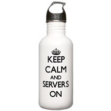 Keep Calm and Servers Water Bottle