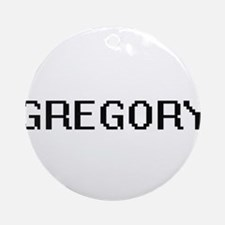 Gregory Digital Name Design Ornament (Round)