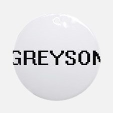 Greyson Digital Name Design Ornament (Round)