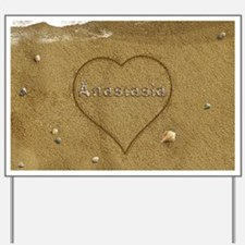 Anastasia Beach Love Yard Sign