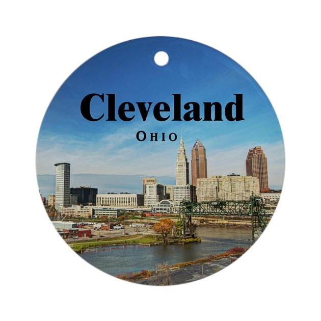 Cleveland Ornament Round By Cleveland Oh