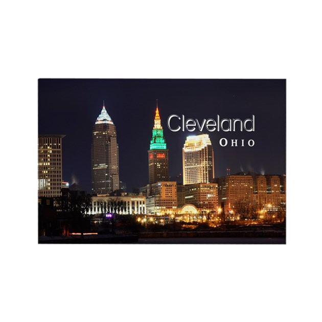 Cleveland Rectangle Magnet By Cleveland Oh