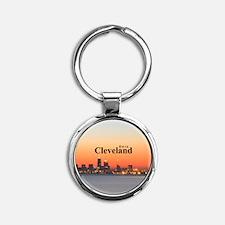 Cleveland Round Keychain