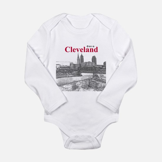 Cleveland Long Sleeve Infant Bodysuit