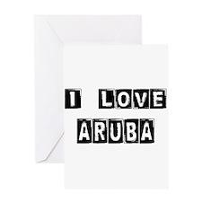 I Block love Aruba Greeting Card