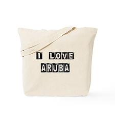 I Block love Aruba Tote Bag