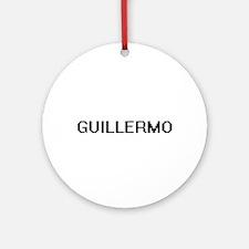 Guillermo Digital Name Design Ornament (Round)