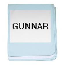 Gunnar Digital Name Design baby blanket