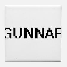 Gunnar Digital Name Design Tile Coaster