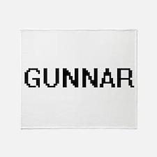 Gunnar Digital Name Design Throw Blanket