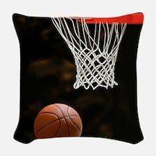 Basketball Ball Woven Throw Pillow