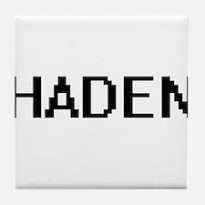 Haden Digital Name Design Tile Coaster